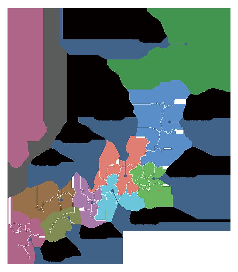 ものがたり酒店 蔵元地図