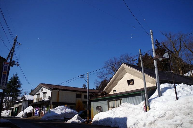 石塚酒造 豪雪風景