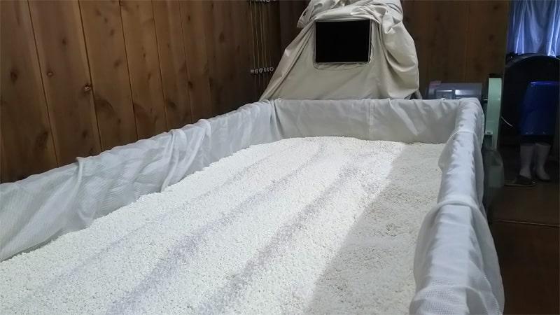 石塚酒造 姫の井 仕込み風景