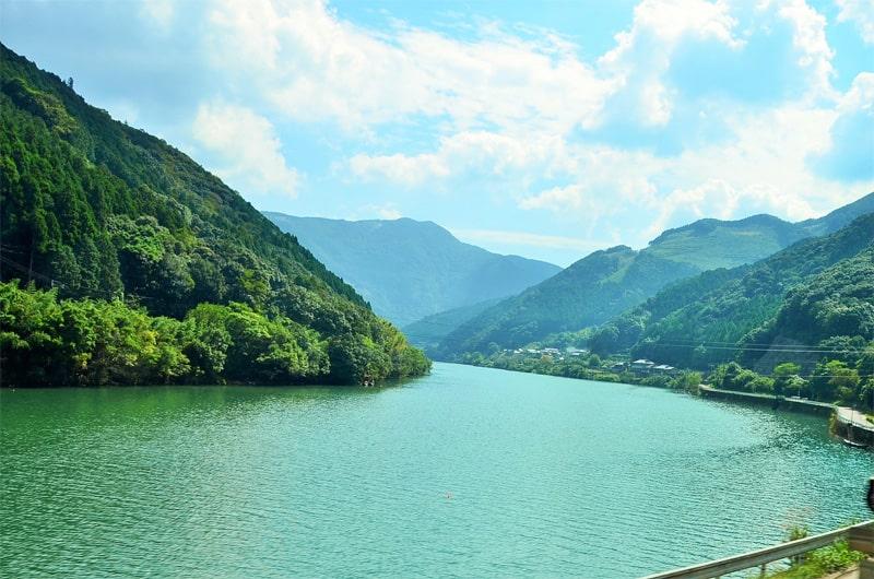 球磨川の風景