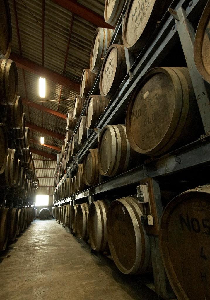 常楽酒造 樽貯蔵風景