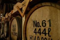 松下醸造場 貯蔵用の樫樽