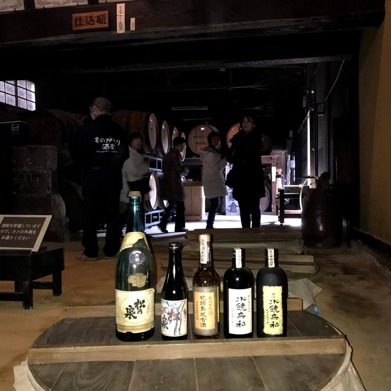 「球磨焼酎蔵めぐり」と「日本遺産人吉・球磨満喫」ツアー 「松の泉酒造」蔵見学風景