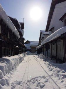 金升酒造外観(雪景色)