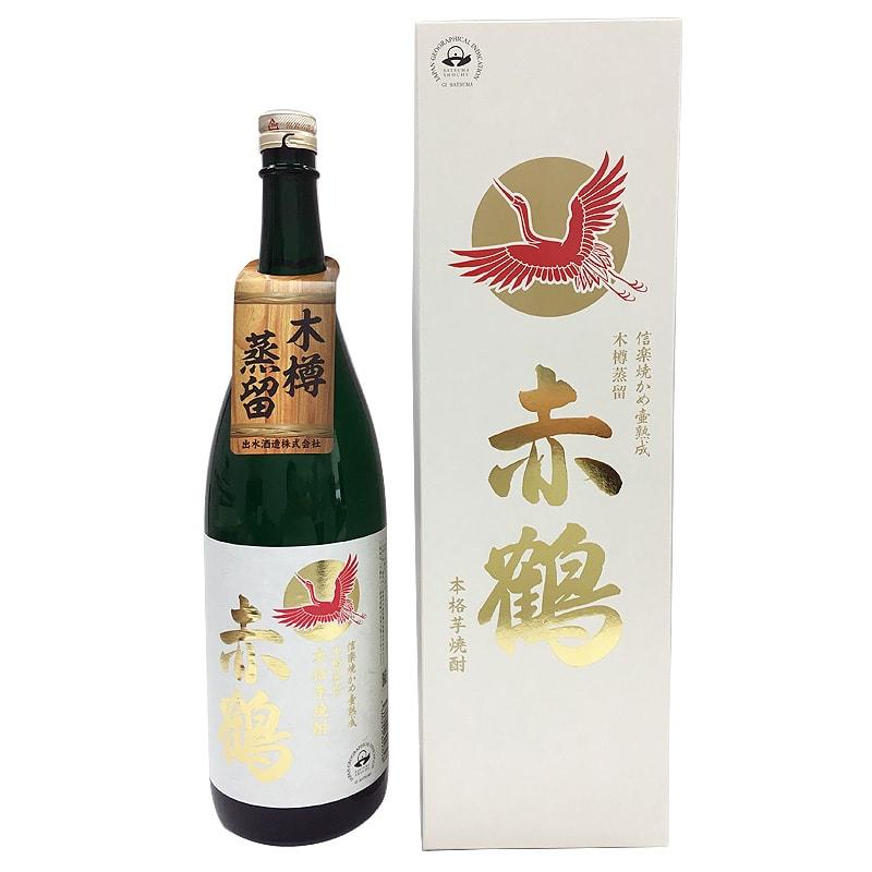 出水酒造 赤鶴 25度 ギフト箱付 1800ml