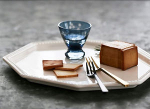 岩豆腐の燻製