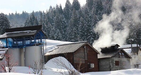釜場からの蒸気