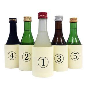 〜ブラインドテイスティング〜「五本の物語」スマホでテイスティングができる利き酒セット