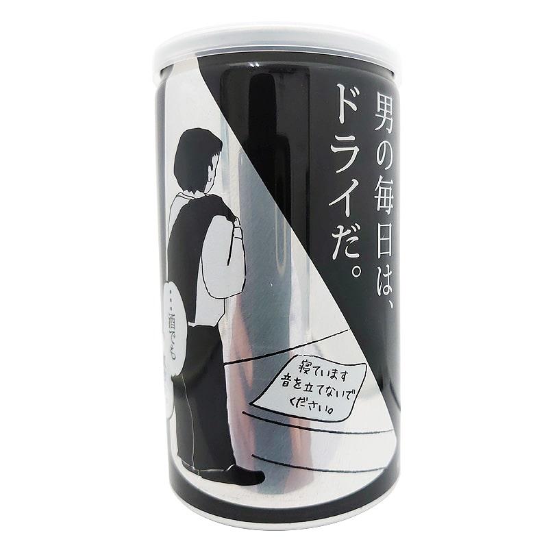 あさ開 純米辛口 男の純米ドライ アルミ缶 180ml