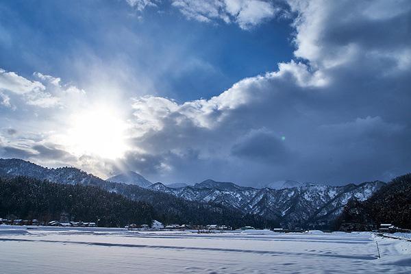 根知谷 雪景色